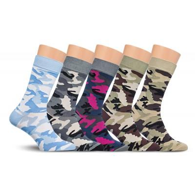 Подарочный набор носков, 5 пар, военный принт, Р1