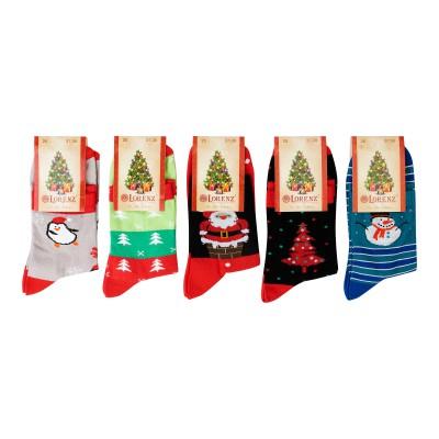 Д136 носки женские новогодние
