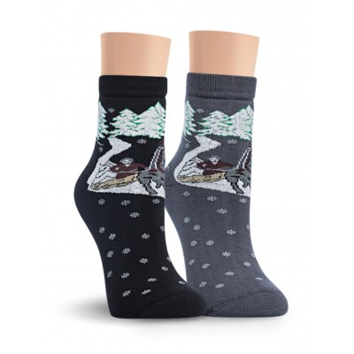 Д10М носки женские махровые