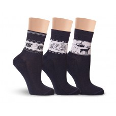 Д16М носки женские махра по следу